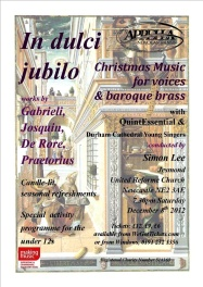 Publicity poster for concert In dulci jubilo, 8 December 2012