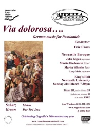 Publicity poster for concert 21 March 2010