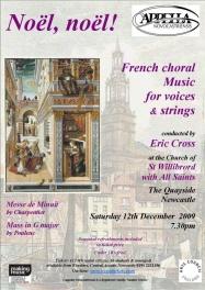 Publicity poster for concert 12 December 2009