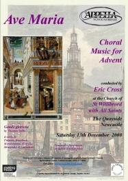 Publicity poster for concert 13 December 2008
