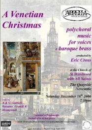 Publicity poster for concert, 16 December 2006