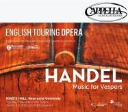 Publicity poster for concert, Handel - Vespers, 7 November 2013