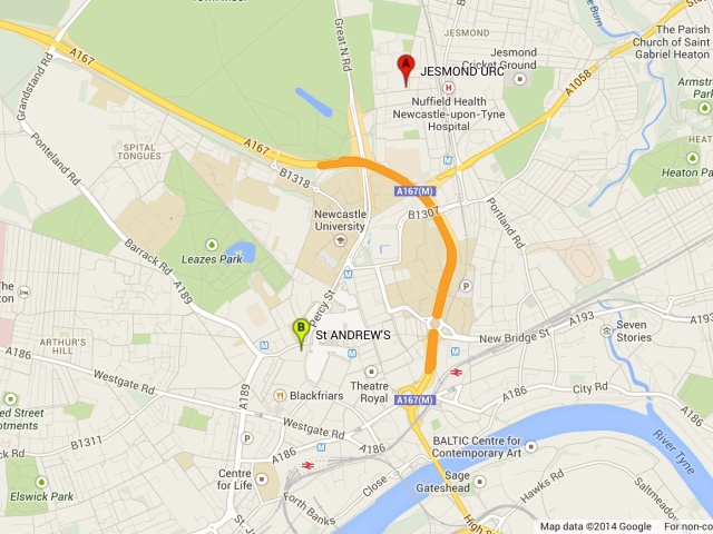 Image of Google map of venue