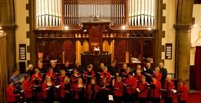 Photo of choir in jesmond united reformed church
