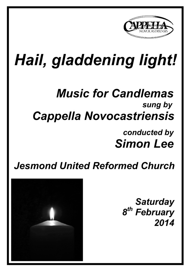 Photo image of Hail Gladdening Light - Concert programme front page