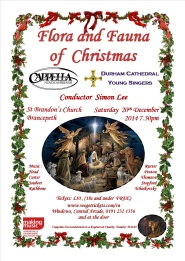 Concert poster for 'Flora and Fauna of Christmas,' 20 December 2014