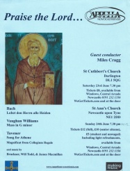 Publicity poster for concert, Praise the Lord, 23 June 2012