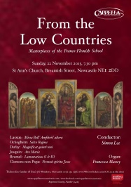 Publicity poster for concert 'From the Low Countries,' 22 November 2015