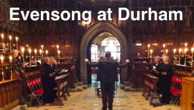 poster for'evensong at durham' 1 May 2017