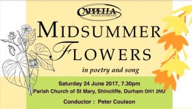 poster for 'Midsummer Flowers' concert' 24 June 2017