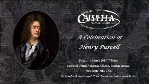 poster for Henry Purcell concert 16 March 2018