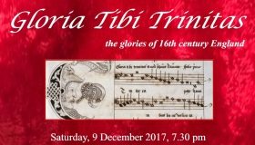 poster for 'Gloria Tibi Trinitas' concert' 9 December 2017